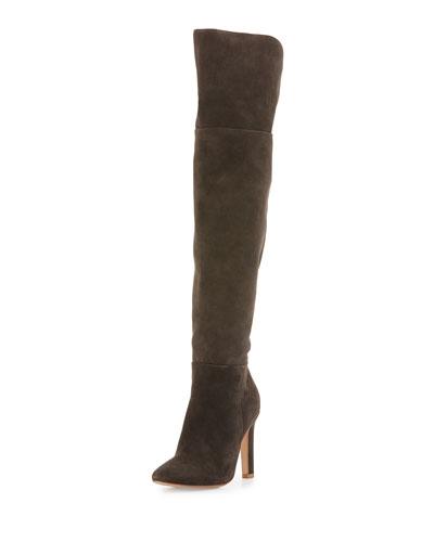 Bentlee Suede Over-the-Knee Boot, Graphite