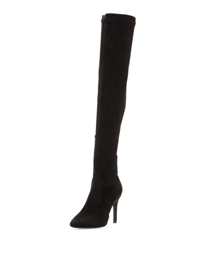 Jemina B Faux-Suede Over-the-Knee Boot, Black