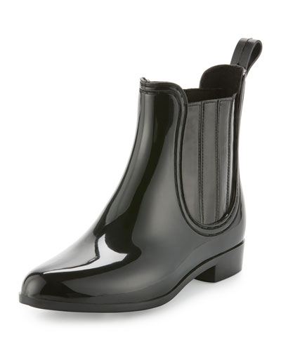Kada Rubber Rain Bootie, Black