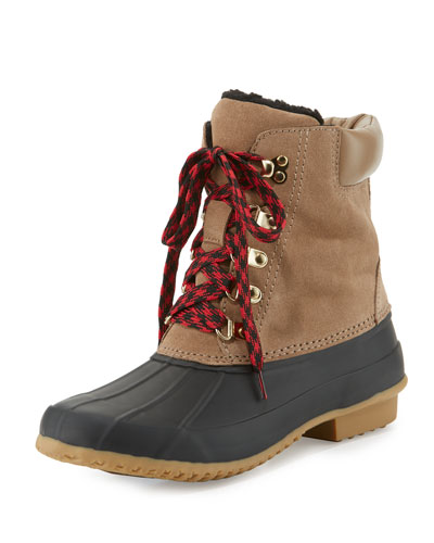 Delyth Suede Duck Boot, Gesso/Ivory