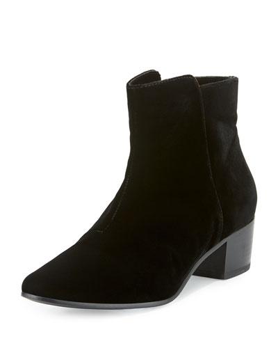 Fenella Velvet Bootie, Black