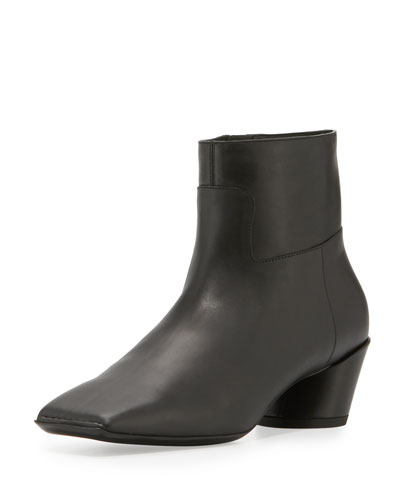 Wayio Leather 40mm Bootie, Noir