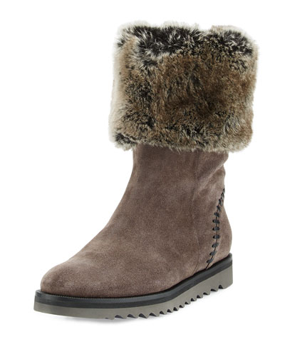 Paulette Faux-Fur Lined Boot, Graphite