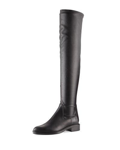 Gisele Weatherproof Over-the-Knee Boot, Black