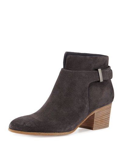 Harriet Suede Ankle Boot, Pewter