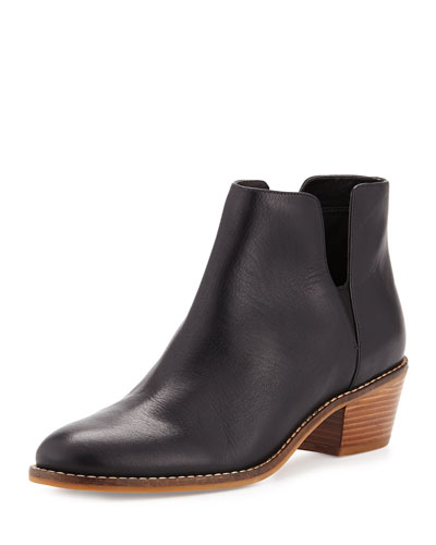 Abbot Grand.OS Leather Cutout Bootie, Black