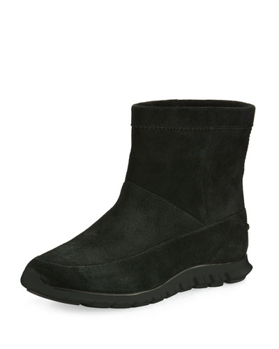 ZeroGrand™ Suede Ankle Boot, Black