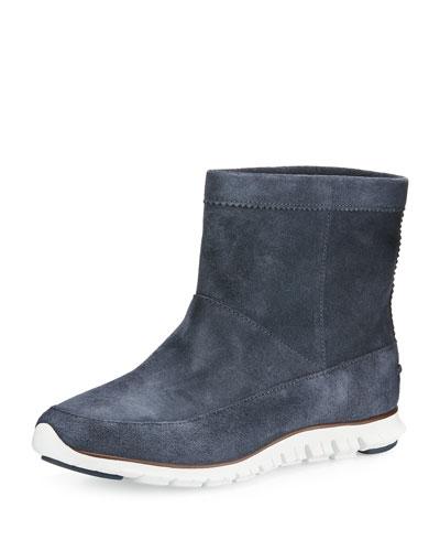 ZeroGrand™ Suede Ankle Boot, Dark Knight Blue