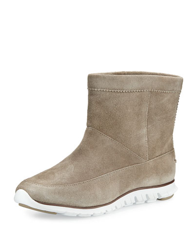 ZeroGrand™ Suede Ankle Boot, Desert Taupe/Pave