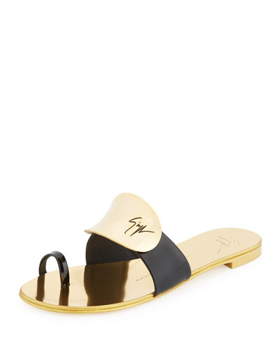 Nuvorock Flat Slide Sandal, Black