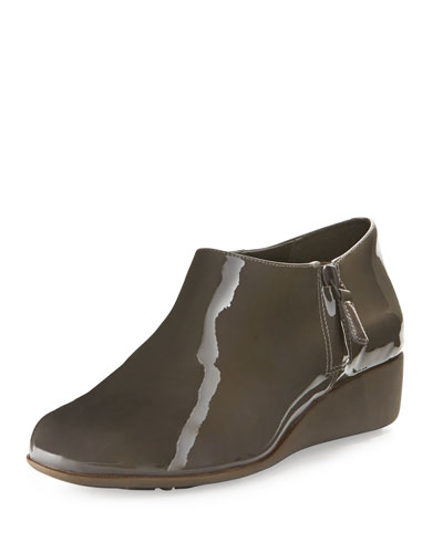 Callie Grand.OS Patent Rain Shoe, Storm Cloud Gray