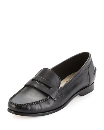 Pinch Grand Penny Leather Loafer, Black