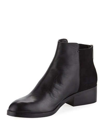 Elion Grand.OS Leather & Suede Bootie, Black
