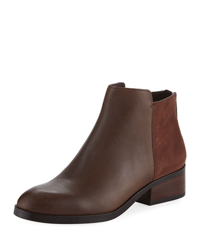 Elion Grand.OS Leather & Suede Bootie, Chestnut