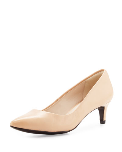 Amelia Grand 45mm Pump, Nude