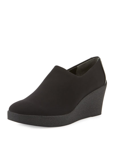 Lilie Slip-On Wedge Pump, Black