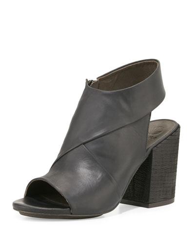 Dar Leather Chunky-Heel Sandal, Black