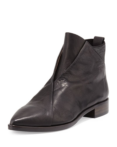 Arne Leather Ankle Boot, Black