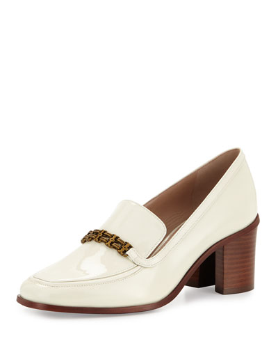 Gemini-Link Patent 65mm Loafer, New Ivory
