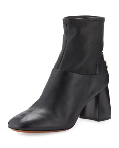Sidney Leather 70mm Bootie, Black