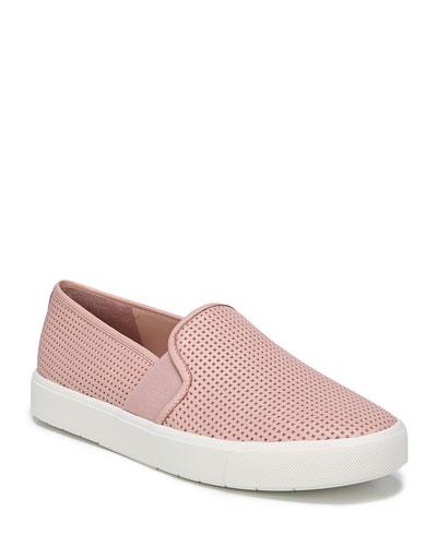 Blair 5 Perforated Slip-On Sneaker, White