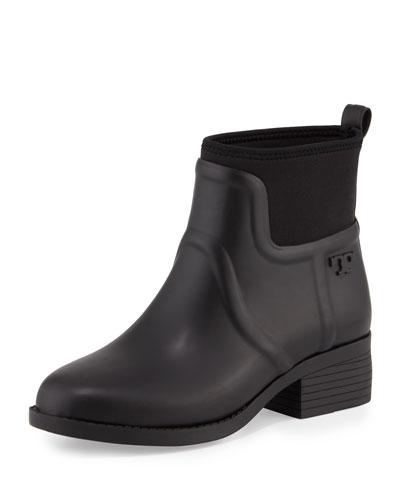 April Short Rain Boot, Black