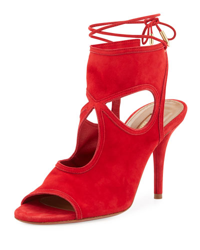 Sexy Thing Suede 85mm Sandal, Lipsitck