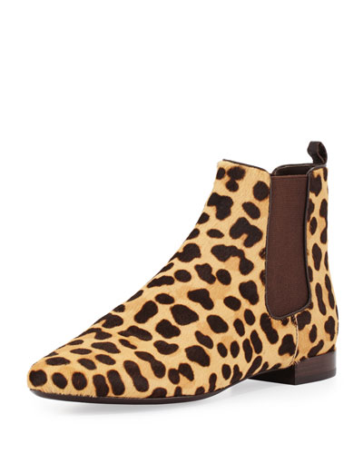 Orsay Calf-Hair Chelsea Boot, Leopard/Coconut
