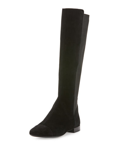 Orsay Suede Knee Boot, Black