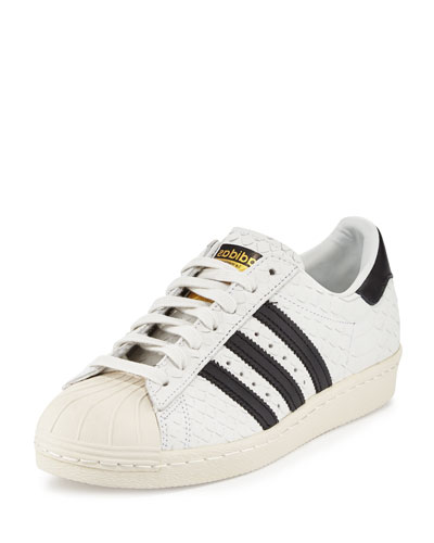 Superstar '80s Classic Snake-Cut Sneaker, White/Black