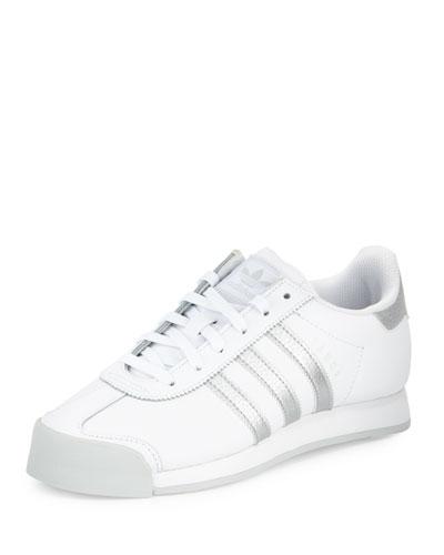 Samoa Original Leather Sneaker, White/Silver