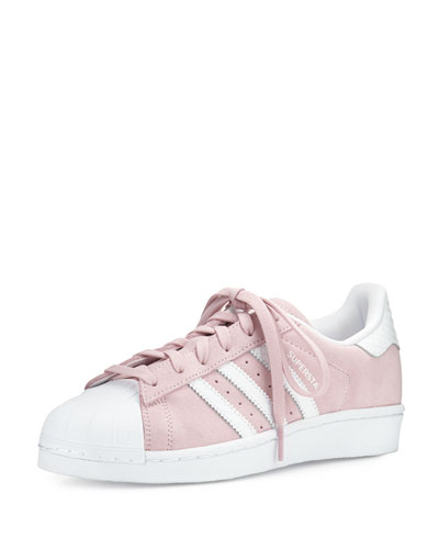 Superstar Original Fashion Sneaker, Clear Pink/White