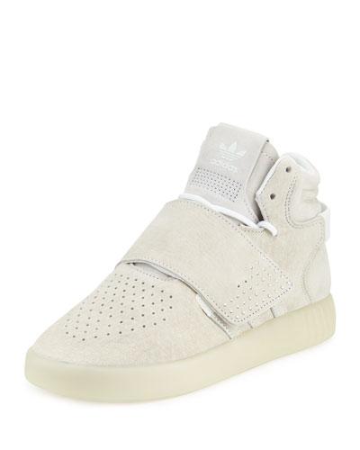 Tubular Invader Strap Sneaker, White