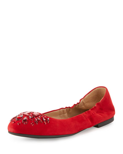 Delphine Crystal Logo Flat, Maple Flower