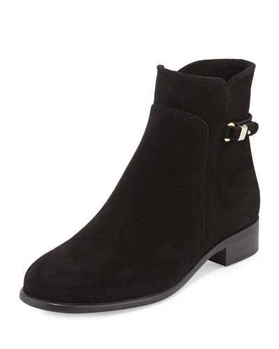 Sicilia Buckle Ankle Boot, Black