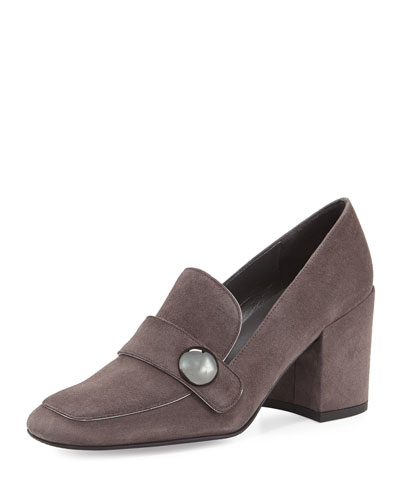 Dundee Suede Loafer Pump, Londra