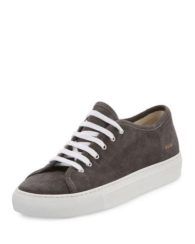 Tournament Suede Low-Top Sneaker, Dark Gray