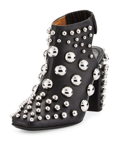 Ellery Studded Leather Bootie, Black