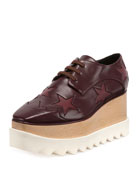 Elyse Star Platform Creeper, Bordeaux/Plum