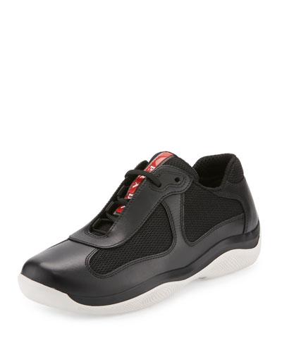 America's Cup Sneaker, Black/White (Nero+Bianco)
