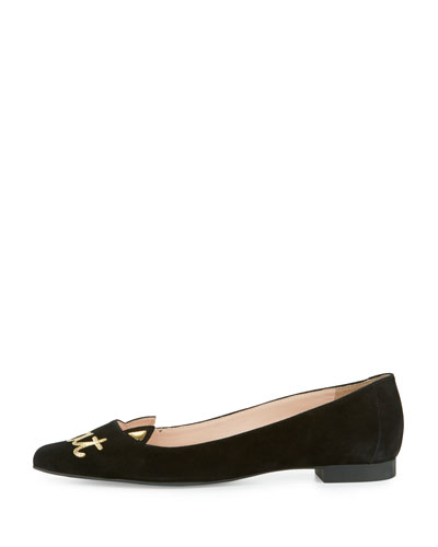 elektra cool cat ballerina flat, black