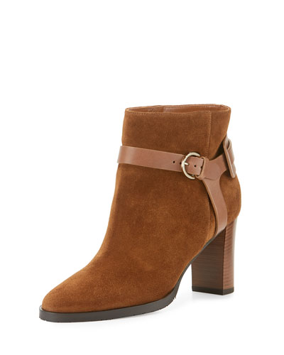 Hose Suede 80mm Bootie, Canyon