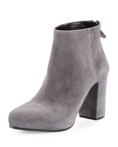 Suede 85mm Ankle Boot, Fog (Nebbia)