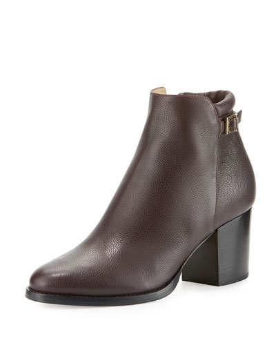 Method Leather 65mm Bootie, Dark Brown