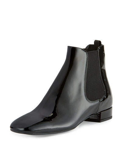 Patent Leather 20mm Chelsea Boot, Black (Nero)