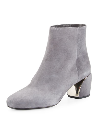Suede 55mm Ankle Boot, Fog (Nebbia)