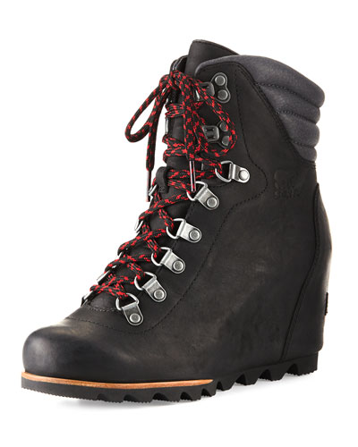 Conquest™ Wedge Hiker Boot, Black