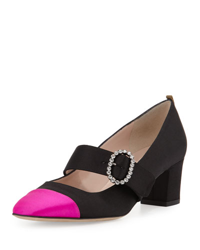 Soeur Cap-Toe Mary Jane Pump, Black