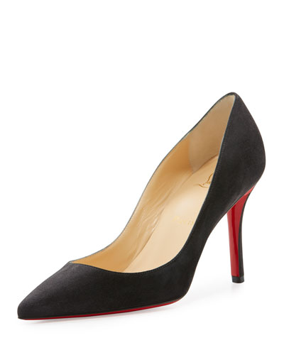 Apostrophy Suede 85mm Red Sole Pump, Fusian