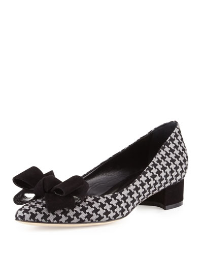 Listony Herringbone Bow Pump, Black/Gray